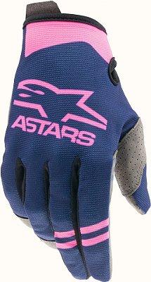 Luva ALPINESTARS Radar 21 Azul Escuro/Rosa Fluor