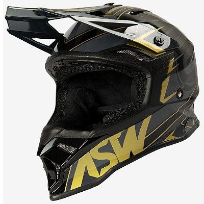 Capacete ASW Fusion 2.0 Blade Preto Dourado