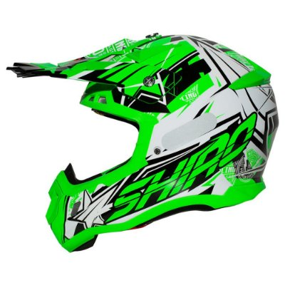 Capacete Motocross Shiro Thunder III MX-917 Verde Fluorescente