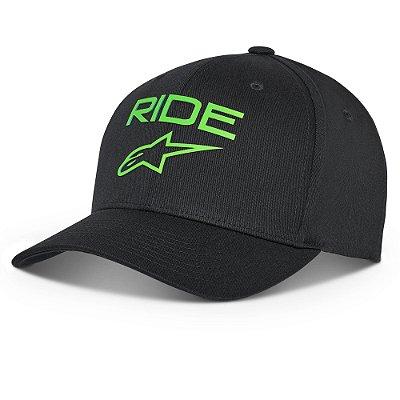 Boné Alpinestars Ride Transfer Preto/Verde