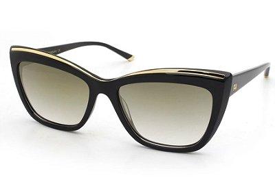 Óculos de Sol Ana Hickmann AH9254 A01/56 Preto e Dourado