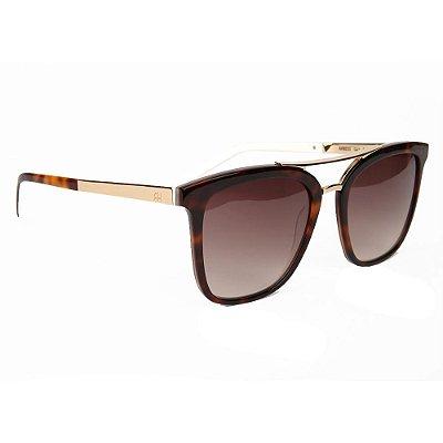 Óculos de Sol Ana Hickmann AH9233 G21/54 Tartaruga/Dourado