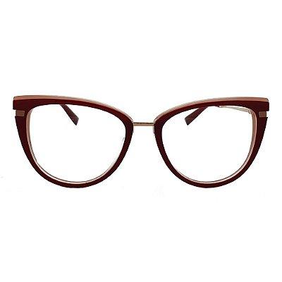 Óculos de Grau Ana Hickmann AH6405 H02/77 - Vermelho