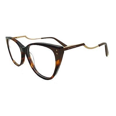Óculos de Grau Ana Hickmann AH6403 P01/70 - Tartaruga