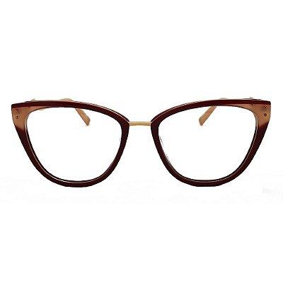 Óculos de Grau Ana Hickmann AH6401 P03/68 - Vermelho
