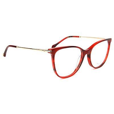 Óculos de Grau Ana Hickmann AH6388 G22/55 Vermelho/Dourado