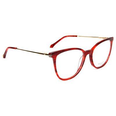 Óculos de Grau Ana Hickmann AH6374 E02/51 Tartaruga Vermelho/Dourado