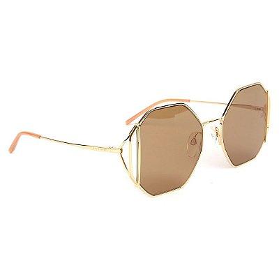 Óculos de Sol Ana Hickmann AH3185 04B/55 Dourado