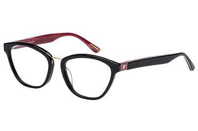 Óculos de Grau Victor Hugo VH1755 0700/52 Preto/Bordô