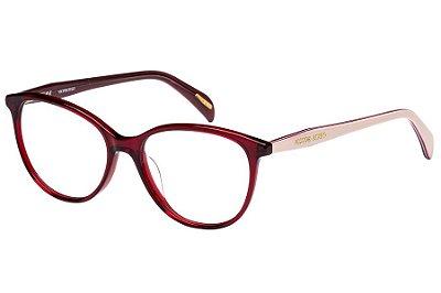 Óculos de Grau Victor Hugo VH1754 0999/52 Vermelho Transparente/Rose