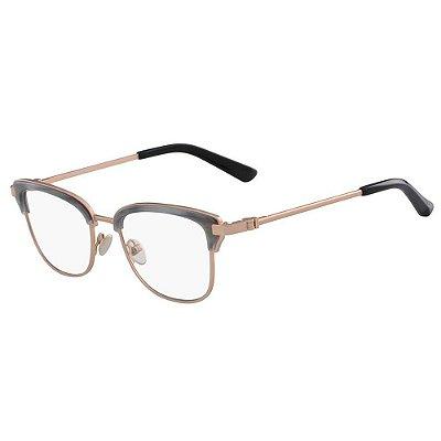 Óculos de Grau Calvin Klein CK8066 047/51 Cinza/Rosa
