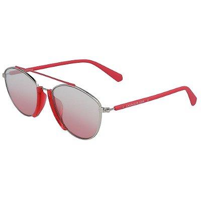 Óculos de Sol Calvin Klein Jeans CKJ19306S 655/53 - Vermelho