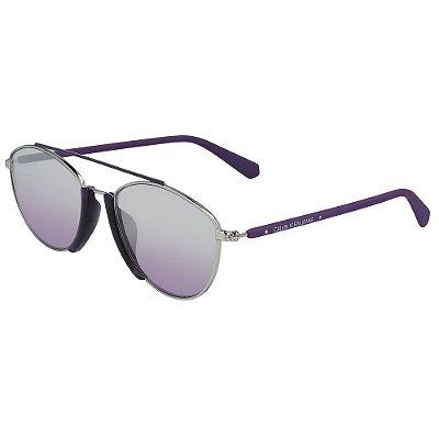 Óculos de Sol Calvin Klein Jeans CKJ19306S 500/53 - Roxo