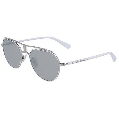 Óculos de Sol Calvin Klein Jeans CKJ19304S 100/54 - Branco
