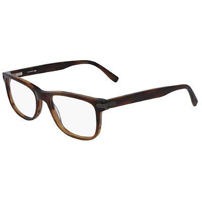 Óculos de Grau Lacoste L2841 210/55 - Marrom