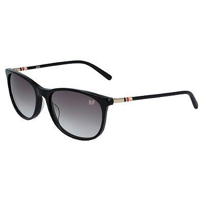 Óculos de Sol Diane Von Furstenberg DVF670S KATHERINA 001/55 Preto - Retangular