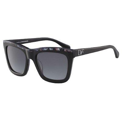 Óculos de Sol Diane Von Furstenberg DVF615S TESSA 001/56 Preto - Quadrado