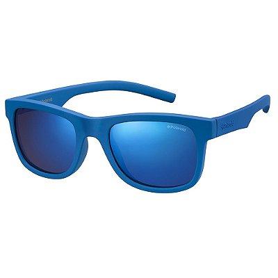 Óculos de Sol Polaroid PLD 8020S - Azul - Infantil - Polarizado