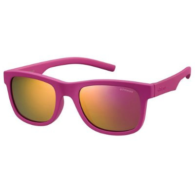 Óculos de Sol Polaroid PLD 8020S - Rosa - Infantil - Polarizado