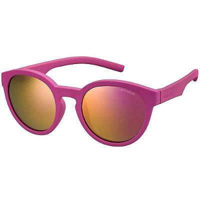 Óculos de Sol Polaroid PLD 8019S - Rosa - Infantil - Polarizado