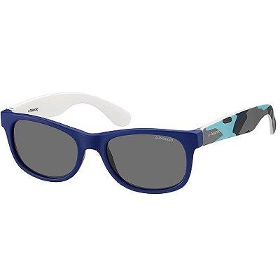 Óculos de Sol Polaroid P0300 - Azul - Infantil - Polarizado