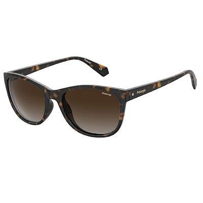 Óculos de Sol Polaroid PLD 4099/S/55 Marrom - Polarizado
