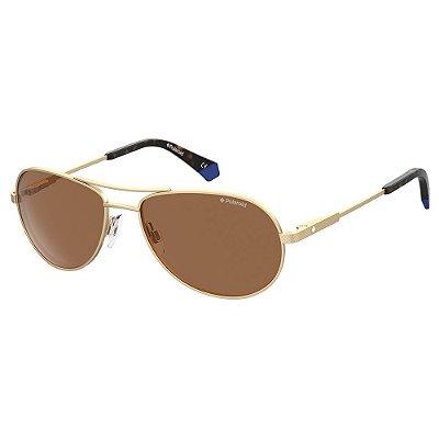 Óculos de Sol Polaroid PLD 2100/S/X/56 - Dourado