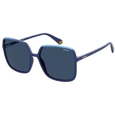 Óculos de Sol Polaroid PLD 6128/S/59 Azul - Polarizado