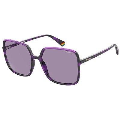 Óculos de Sol Polaroid PLD 6128/S/59 Roxo - Polarizado