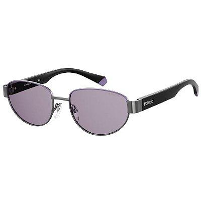 Óculos de Sol Polaroid PLD 6123/S/54 Roxo - Polarizado