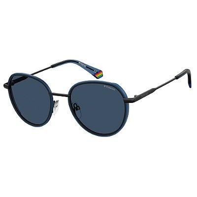 Óculos de Sol Polaroid PLD 6114/S/51 Azul - Polarizado