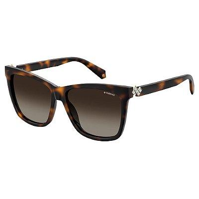 Óculos de Sol Polaroid PLD 4078SX - Marrom - Polarizado