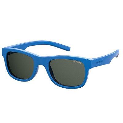 Óculos de Sol Polaroid PLD 8020SSM - Azul - Infantil - Polarizado