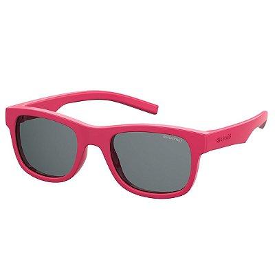 Óculos de Sol Polaroid PLD 8020SSM - Rosa - Infantil - Polarizado