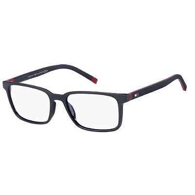 Óculos de Grau Tommy Hilfiger TH 1786/54 - Azul Fosco