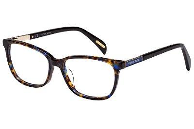 Óculos de Grau Victor Hugo VH1759 06NN/53 Marrom com Azul Mesclado