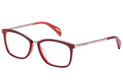 Óculos de Grau Victor Hugo VH1254 0W78/53 Vermelho/Rose