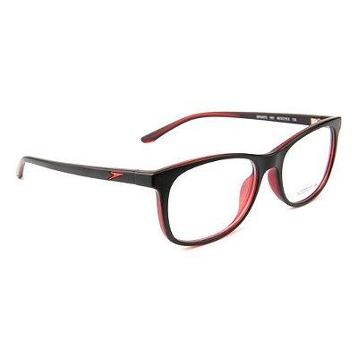 Óculos de Grau Speedo SPK4072 H01/50 Preto/Vermelho