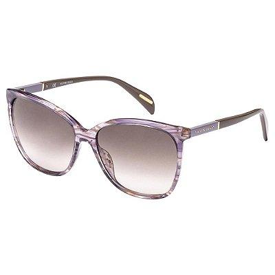 Óculos de Sol Victor Hugo SH1778 0AGE/58 Roxo Mesclado Transparente