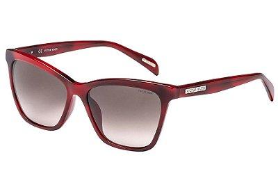 Óculos de Sol Victor Hugo SH1777 0U15/56 Tartaruga Vermelho