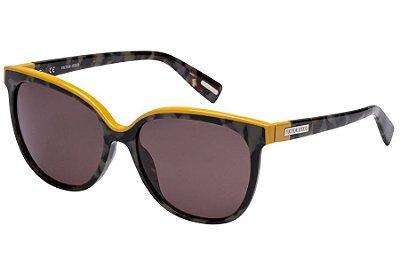 Óculos de Sol Victor Hugo SH1762 09SX/55 Preto Mesclado/Amarelo
