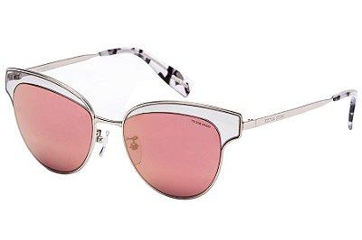 Óculos de Sol Victor Hugo SH1265 579R/52 Prata