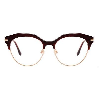 Óculos de Grau Evoke Perception H01/53 Marrom