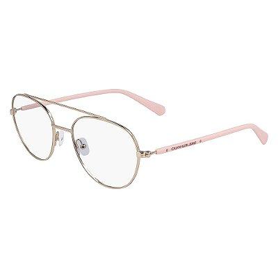 Óculos de Grau Calvin Klein Jeans CKJ20304 780/52 Dourado Rose