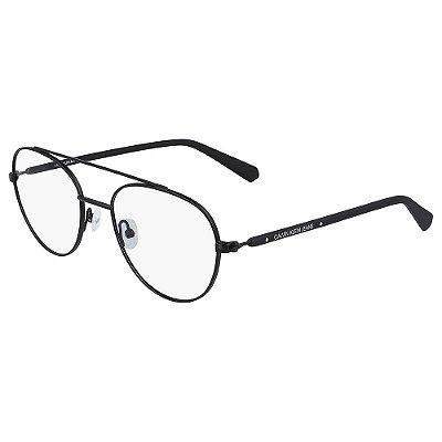 Óculos de Grau Calvin Klein Jeans CKJ20304 001/52 Preto Fosco