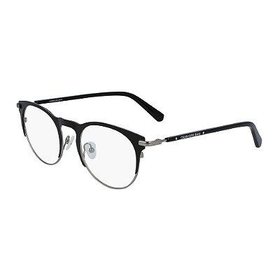 Óculos de Grau Calvin Klein Jeans CKJ19313 001/49 Preto Fosco