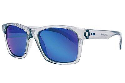 Óculos de Sol HB Unafraid/54 Cinza Transparente - Lente Azul Polarizado