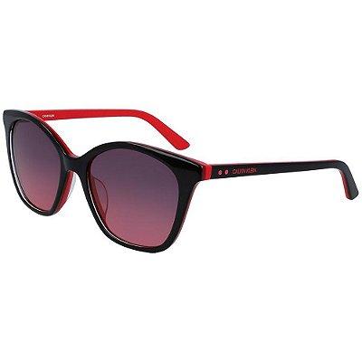 Óculos de Sol Calvin Klein CK19505S 013/54 Preto/Vermelho