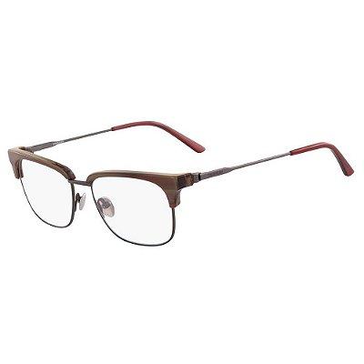 Óculos de Grau Calvin Klein CK18124 209/52 Marrom Rajado
