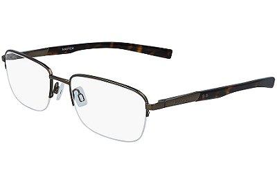 Óculos de Grau Nautica N7283 210/57 Marrom Fosco
